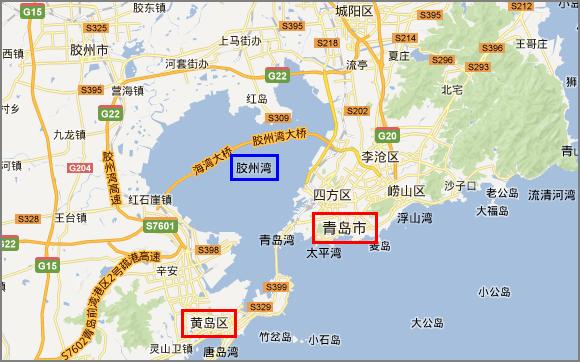 膠州湾トンネルをくぐって黄島ま...