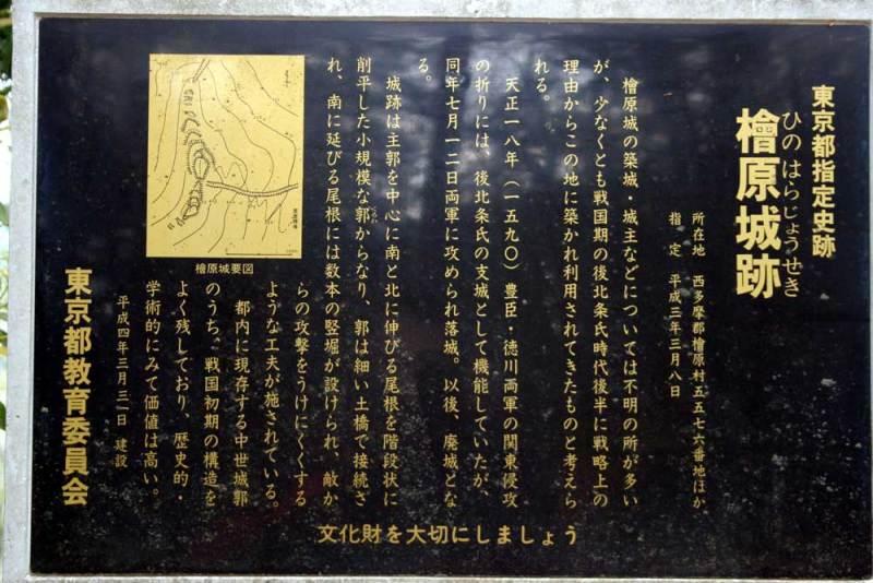 檜原城/説明板(拡大)