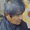 実父の髪をヘナってみる・・の画像
