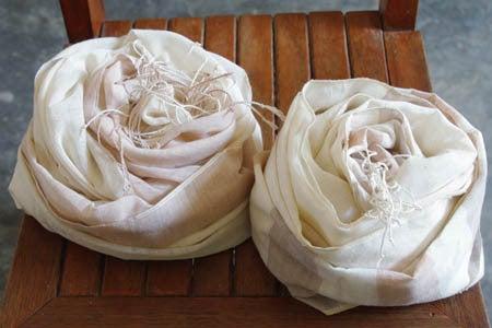 *カンボジアの綿クロマーと赤ちゃん帽子のお店*-春色クロマー Tau mock tiet