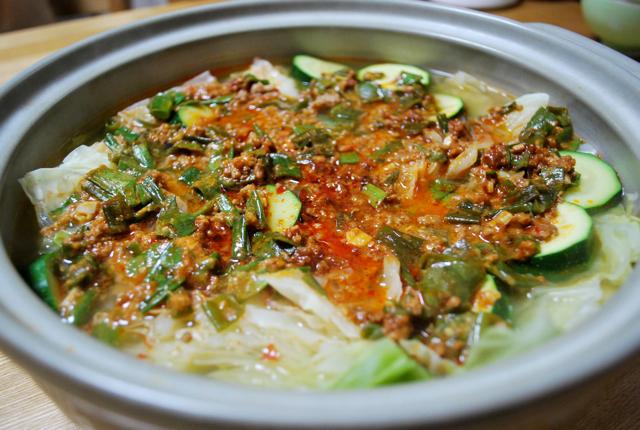 玄米花子のお料理レシピ-坦々鍋