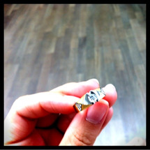 お母様から頂いた指輪…