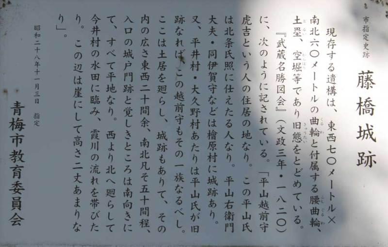 藤橋城/説明板(拡大)
