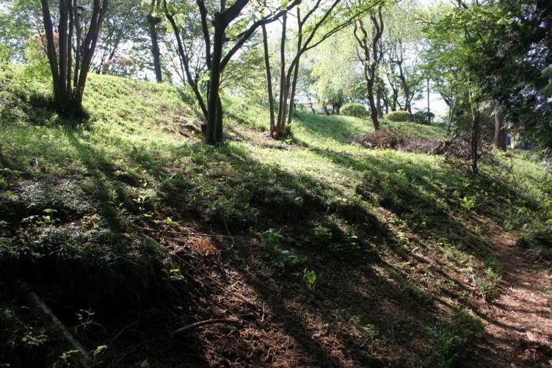藤橋城/公園西側の土塁