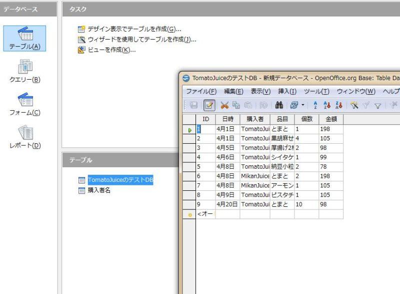 とまとじゅーすのブログ-OpenOffice-Baseの基本的使い方-56