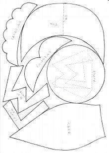 マリオの帽子の作り方,型紙