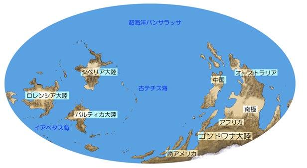 川崎悟司 オフィシャルブログ 古世界の住人 Powered by Ameba-オルドビス紀の世界地図