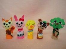 $Handmade glove  puppet          フェルトで指人形-やまのおんがくか 指人形