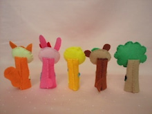 $Handmade glove  puppet          フェルトで指人形-やまのおんがくか バック