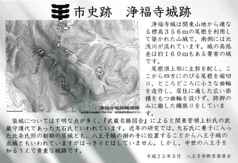 浄福寺城/説明板2