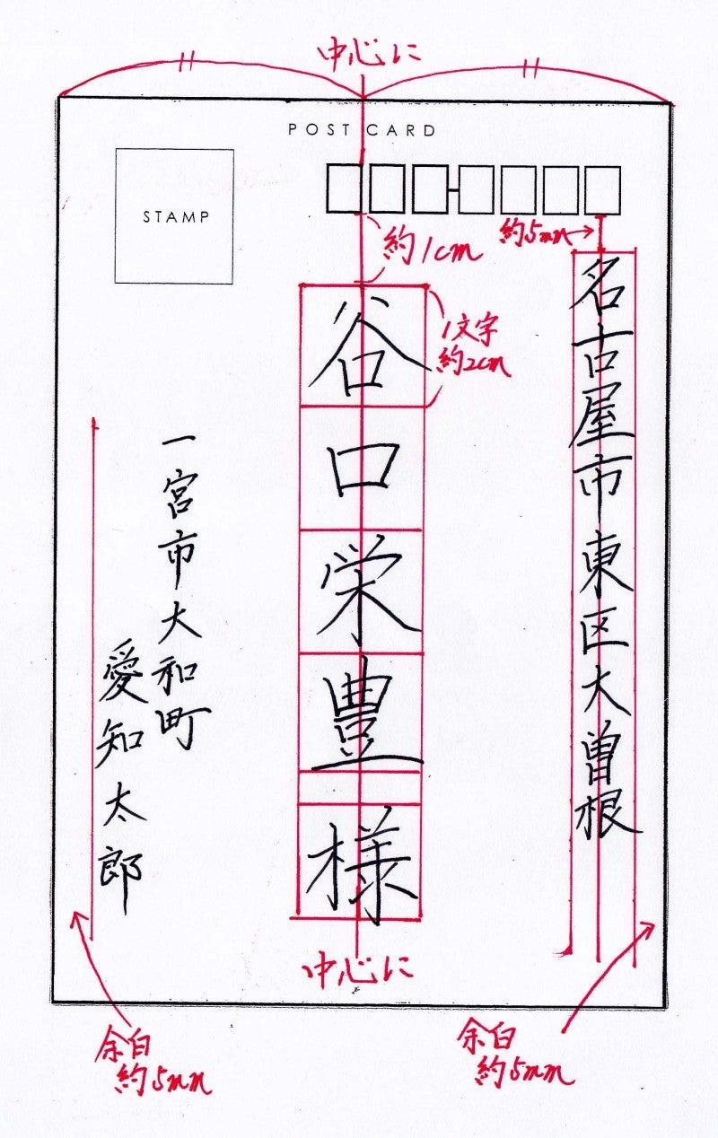 美文字への道,はがきレイアウト2