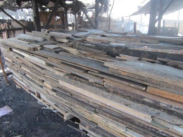 海とごみとチューク生活-set scrap wood