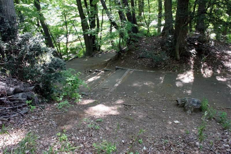 出羽山砦/南側の階段(上から)