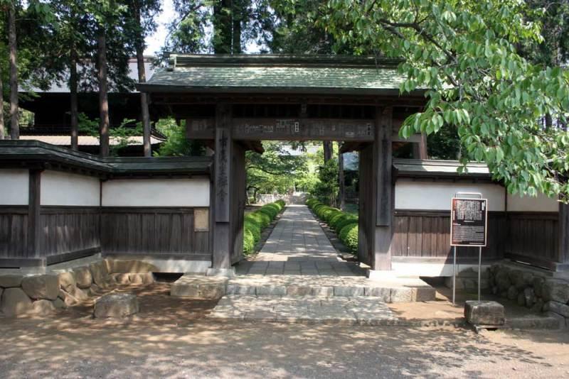 大江氏館/広園寺の入口