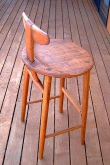 $オーダー家具・小物製作例 モダン・クラシック・カントリー・猫脚も木糸土にお任せ-オーダー家具 カウンター用椅子ジュラチェア