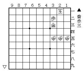 将棋・鹿田NOTE(の手) ~3手目▲1六歩からの軌跡~-大道詰将棋の世界 第3問 1