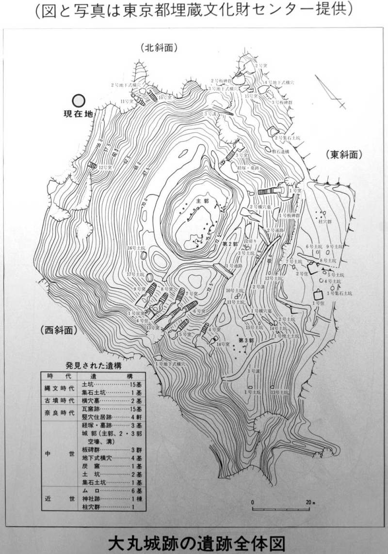 大丸城/説明板(測量図)