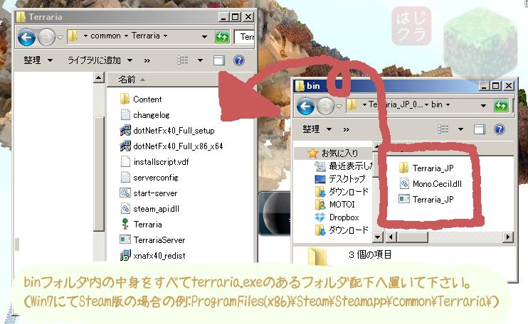 はじめてのminecraftマインクラフトテラリアTerraria無料購入方法安くPC版PS3版