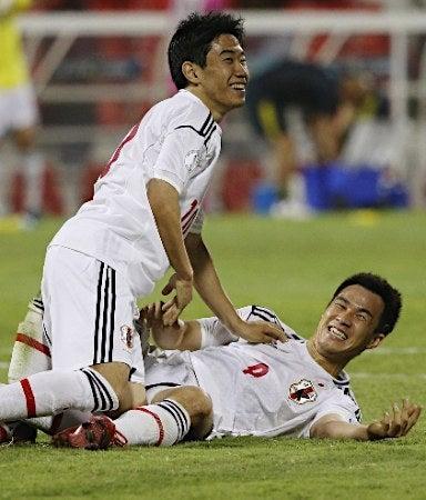 香川真司 岡崎慎司 サッカー 日本代表 ワールドカップ 最終予選 イラク