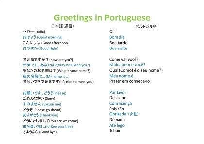 ありがとう ポルトガル 語