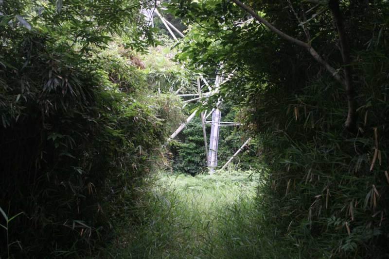 竹尾城/先端部には鉄塔があります