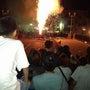 巴川の手筒花火