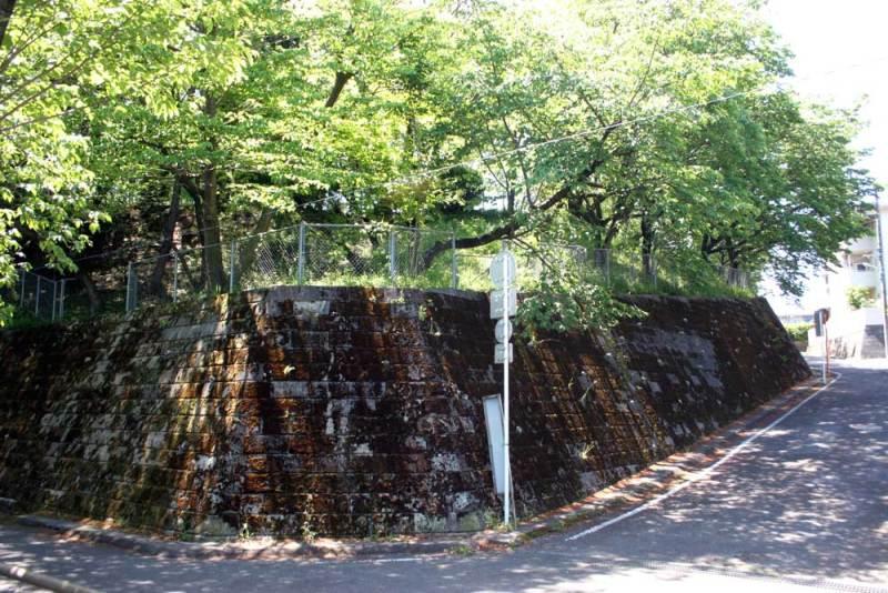 成瀬城/公園の下から見上げる