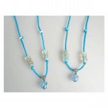 $1/f feminine祭のブログ*-夏らしいとんぼ玉のネックレス