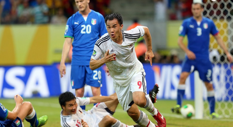Shinji Okazaki 岡崎慎司 コンフェデレーションズカップ イタリア