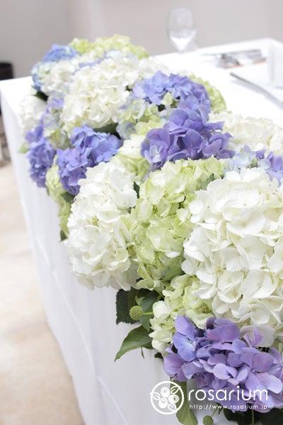 6月の鎌倉 紫陽花の装花 L\u0027EGLISE鎌倉さまへ|ロザブロ ウェディングフラワー&ギフトフラワーのアトリエ