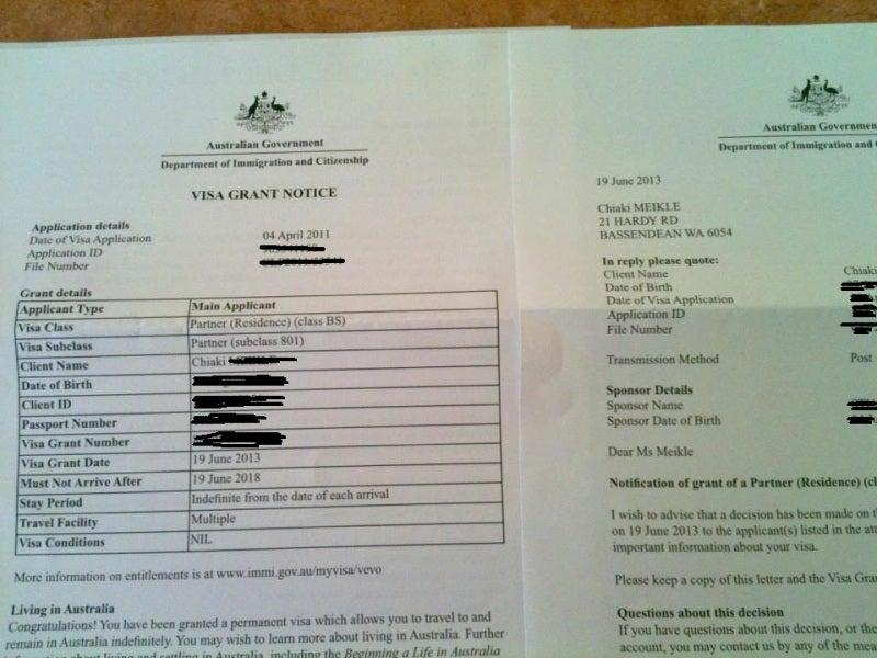 オーストラリアの永住権が取れま...