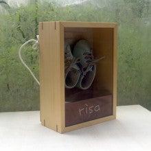 $お名前入で出産祝にも喜ばれる、手作り木製子供家具  mokushido-kids-ファーストシューズボックス