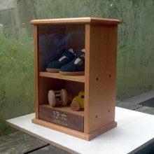 $お名前入で出産祝にも喜ばれる、手作り木製子供家具  mokushido-kids-ファーストボックス