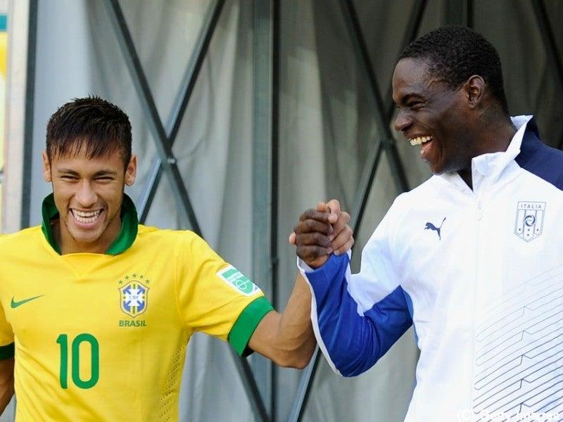 サッカー ブラジル ネイマール バロテッリ コンフェデレーションズカップ 準決勝