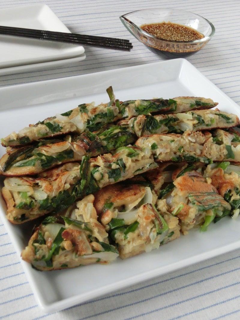 缶詰\u0026びん詰食品で簡単韓国料理!!あさりと海苔の佃煮の海鮮チヂミ