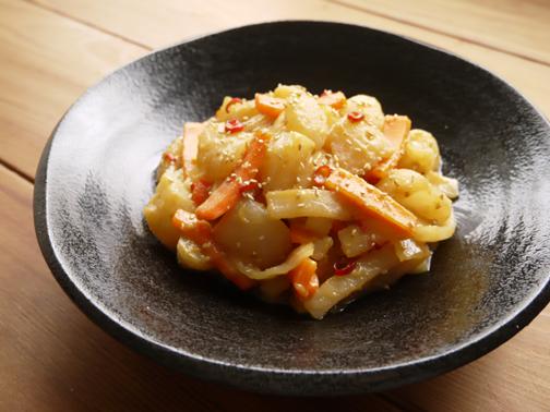 ひよこ食堂-大根とこんにゃくの味噌きんぴら01
