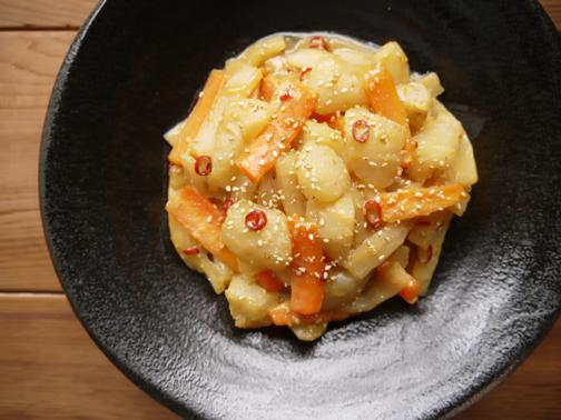 ひよこ食堂-大根とこんにゃくの味噌きんぴら02