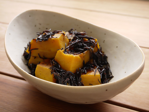 ひよこ食堂-かぼちゃとひじきの甘煮02