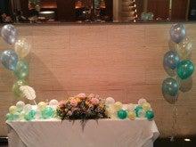 立川  フラワー教室 お好きなお花でアレンジしてインテリアや贈り物に アトリエ  クリスタルローズ-ウェデイング装飾~バルーンと花のコラボ