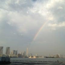 夕立の後の虹