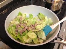 おとこの食の自立をめざして~男子厨房に入りましょう-キャベツと挽肉の味噌炒め02