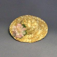 モルモットの麦わら帽子(ピンクフラワー)