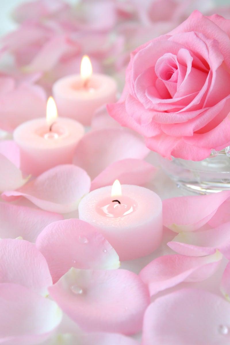 薔薇とロウソク
