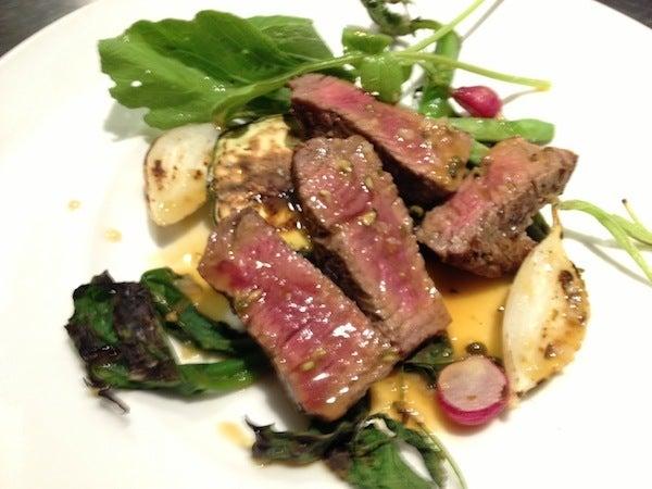 ENZO Blog 牛フィレ肉のポアレ フォンドボーとグリーンペッパーのソース