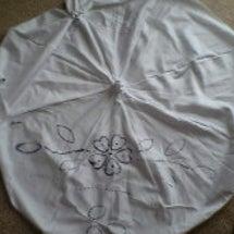 絞りの日傘作りに挑戦…