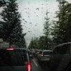 凄い雨の画像