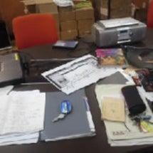 鳥取大学 準備室の机…