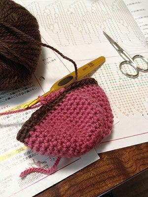 へにょへにょ日記[スムースチワワ写真ブログ]-20130729かぎ針編み