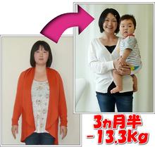 名古屋市緑区のアサミ整体 耳つぼダイエットや骨盤矯正も評判-痩身前後