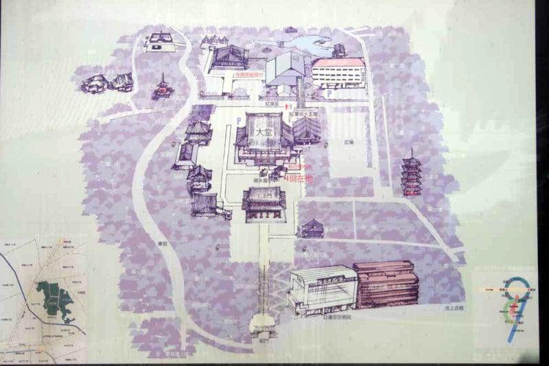 池上氏館/本門寺の案内図